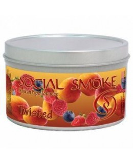 Табак Social Smoke Twisted (Манго Клубника Малина Голубика) 250гр