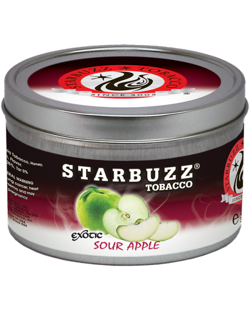 Табак Starbuzz Sour Apple (Кислое Яблоко) 250гр
